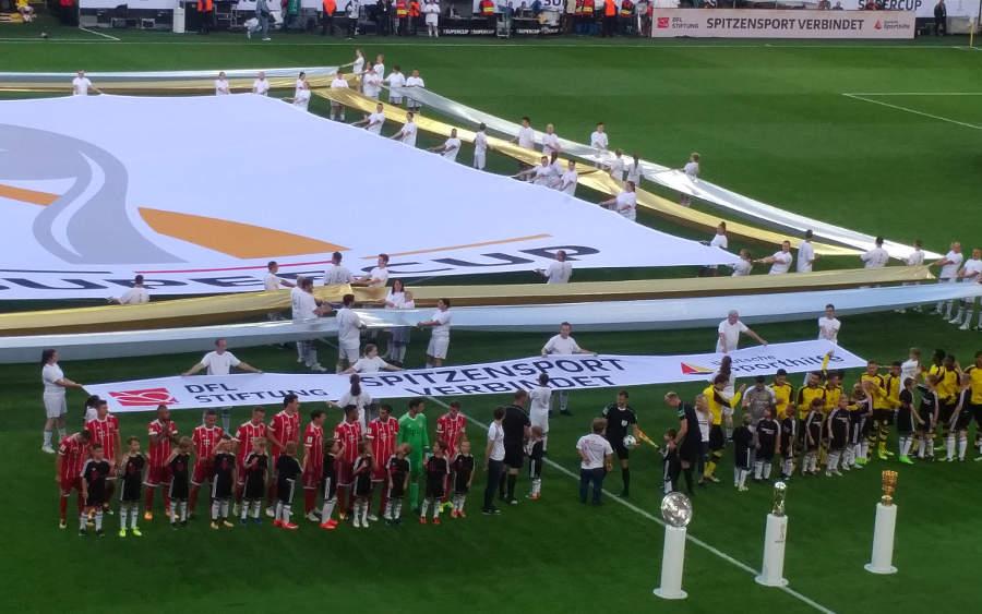 DFL Super Cup Intro ceremony