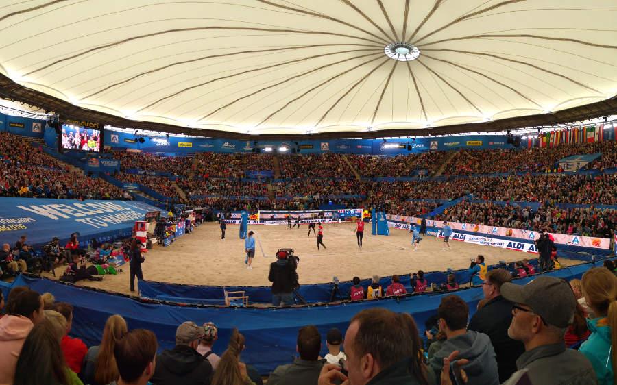 Handball arena Hamburg during Worldcup 2019