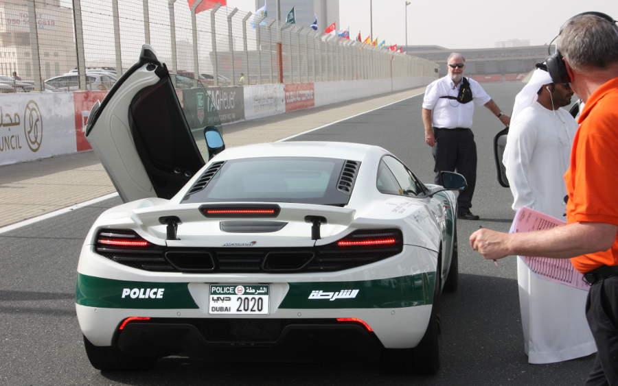 police car McLaren at 24-h race at Dubai